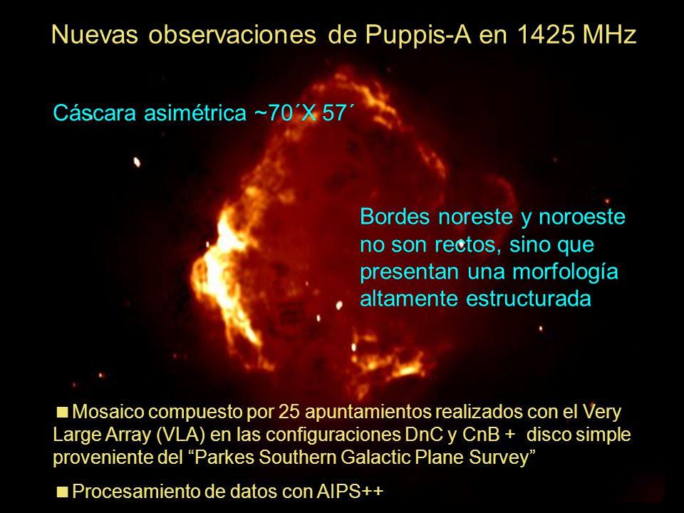 Nuevas observaciones de Puppis-A en 1425 MHz