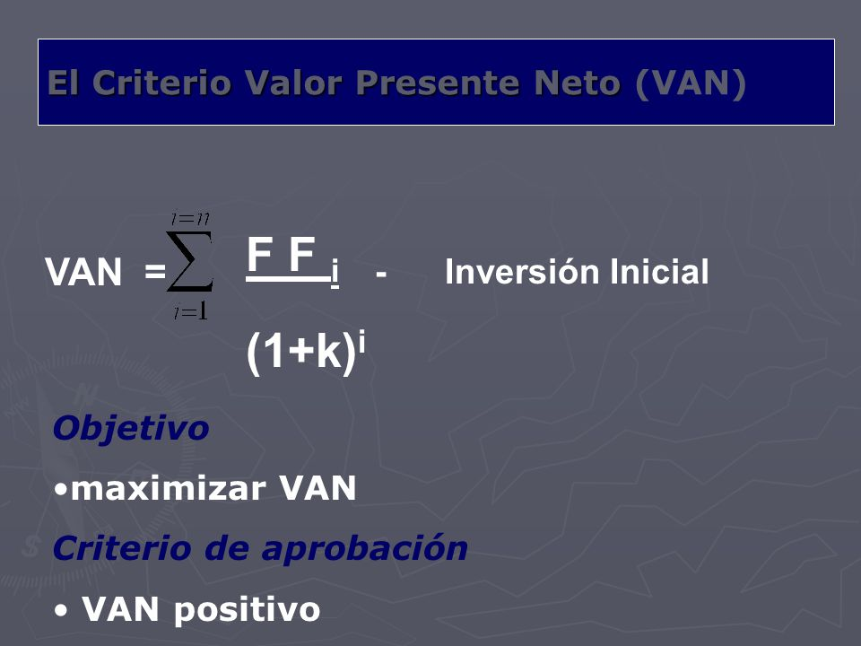 F F i - Inversión Inicial