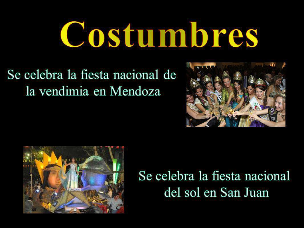 Costumbres Se celebra la fiesta nacional de la vendimia en Mendoza
