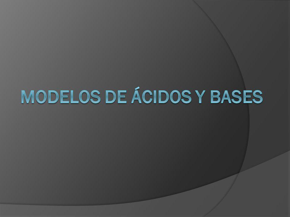 Modelos de ácidos y bases