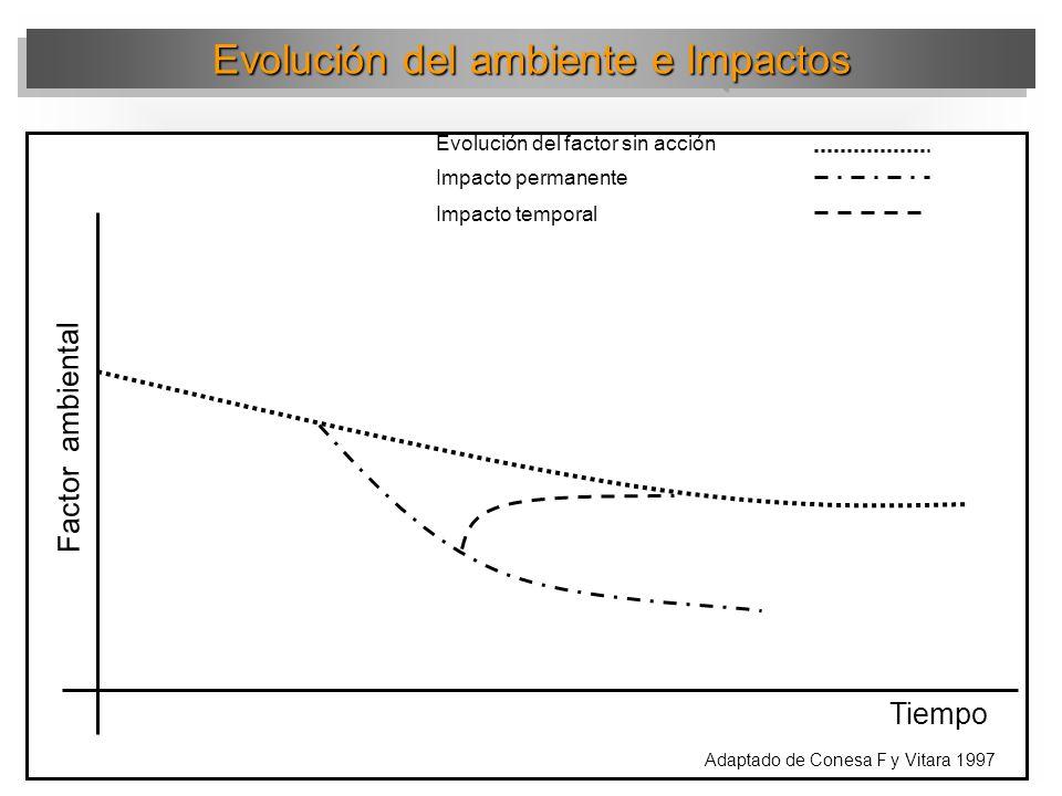 Evolución del ambiente e Impactos