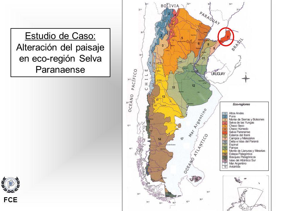 Alteración del paisaje en eco-región Selva Paranaense