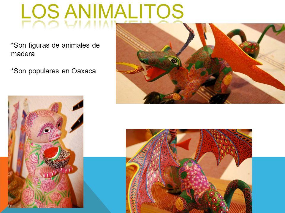 LOS ANIMALITOS *Son figuras de animales de madera
