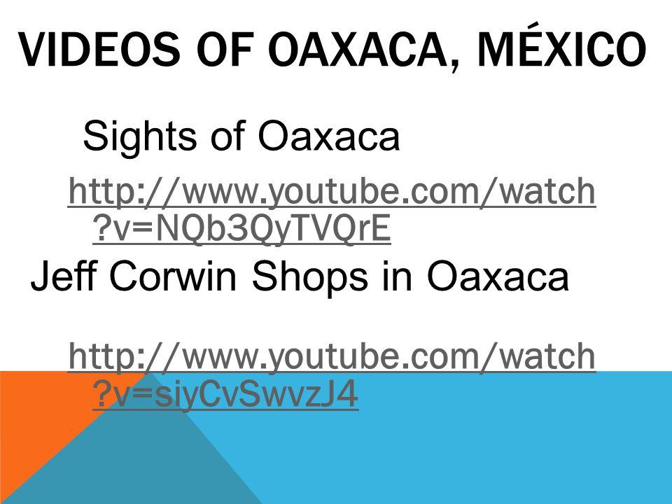 VIDEOS OF OAXACA, MÉXICO