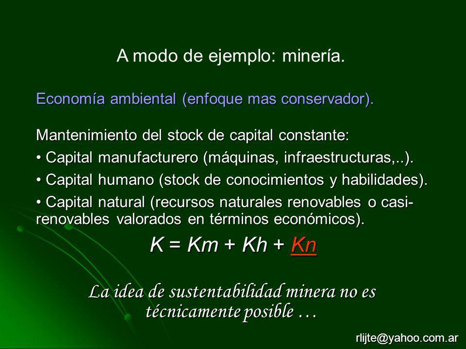 La idea de sustentabilidad minera no es técnicamente posible …