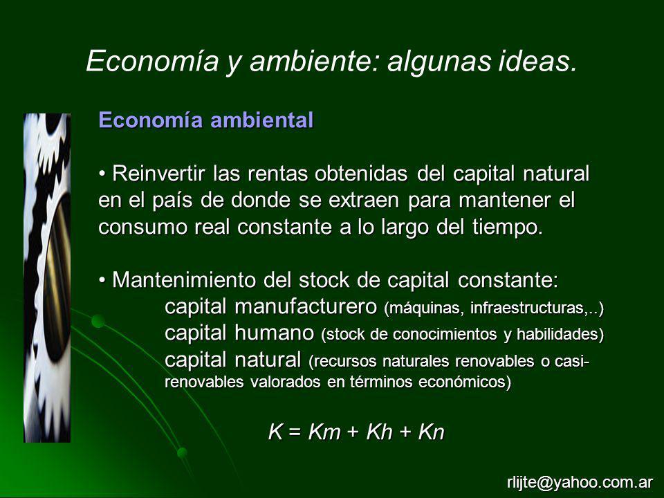 Economía y ambiente: algunas ideas.