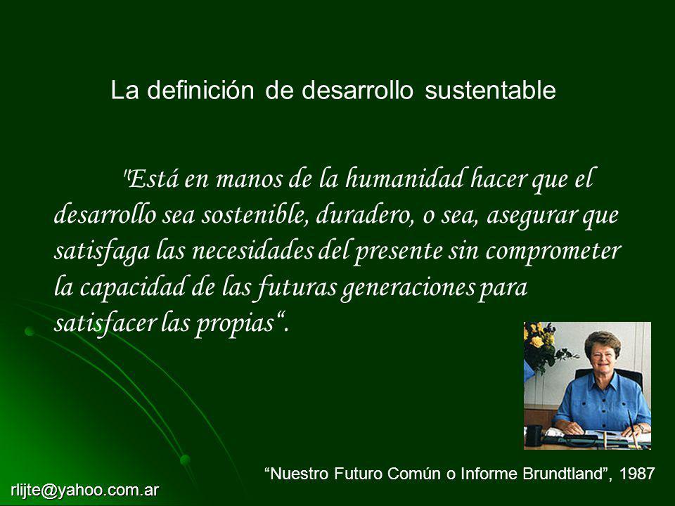 La definición de desarrollo sustentable