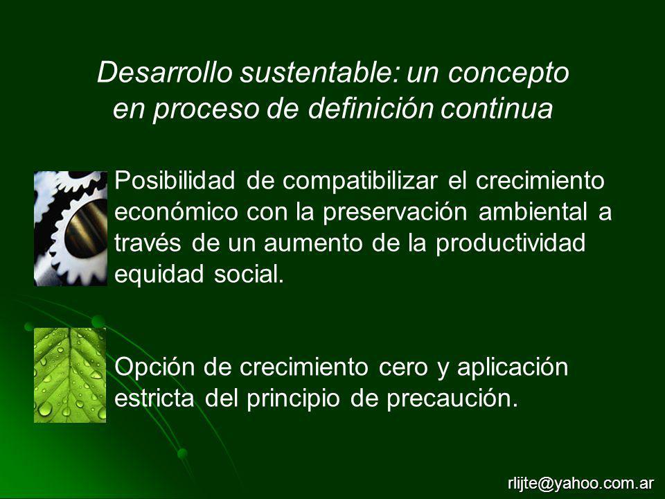 Desarrollo sustentable: un concepto en proceso de definición continua