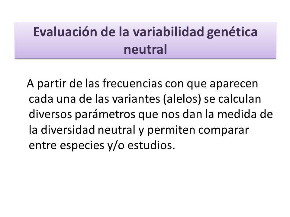 Evaluación de la variabilidad genética neutral