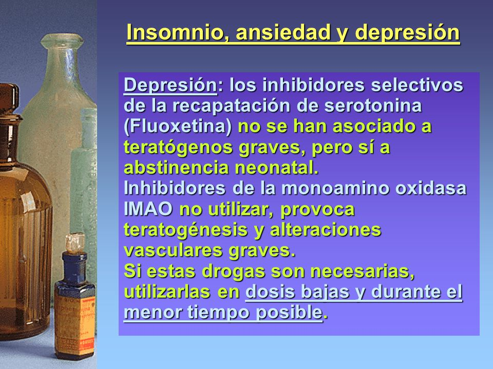 Insomnio, ansiedad y depresión