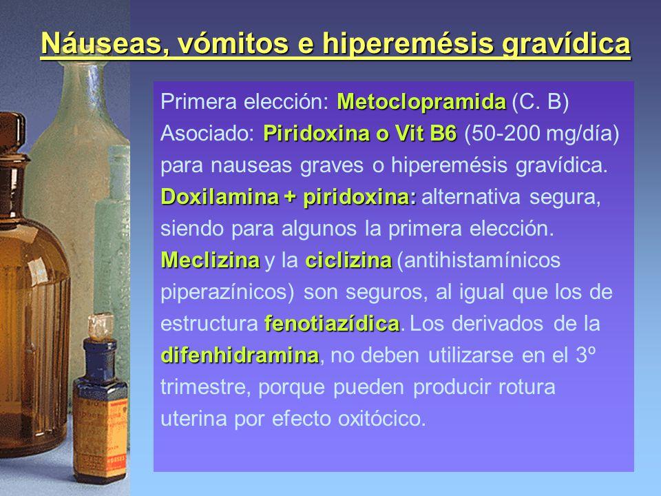 Náuseas, vómitos e hiperemésis gravídica
