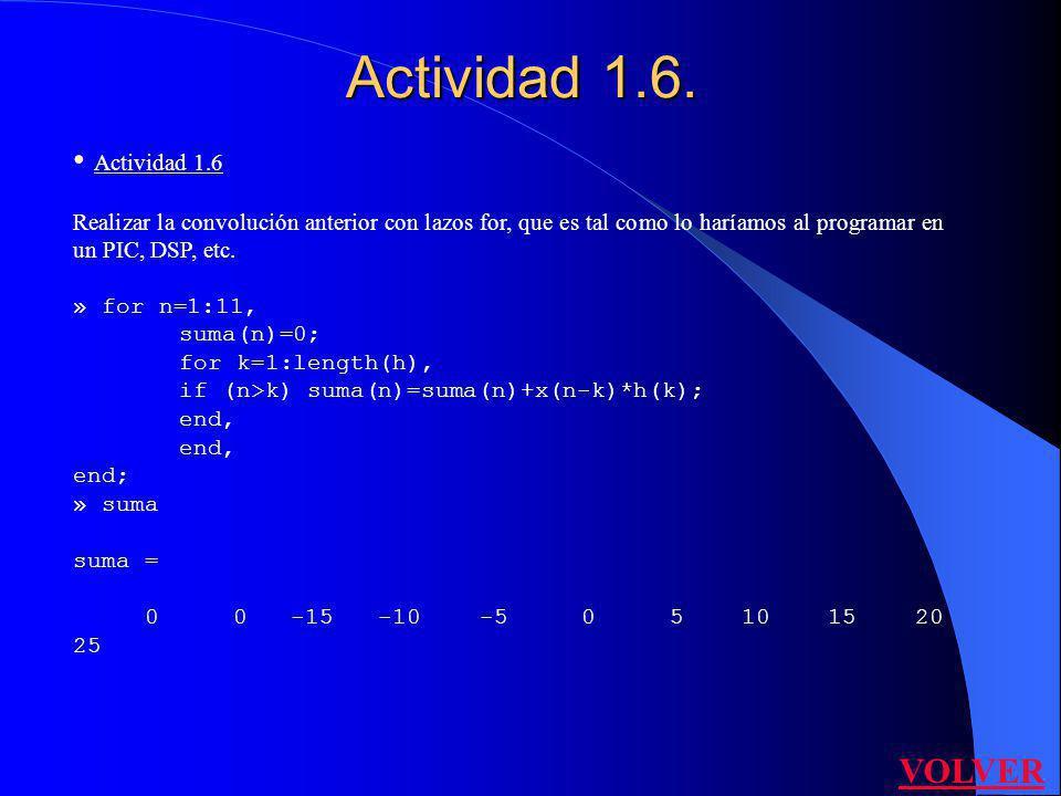 Actividad 1.6. Actividad 1.6 VOLVER