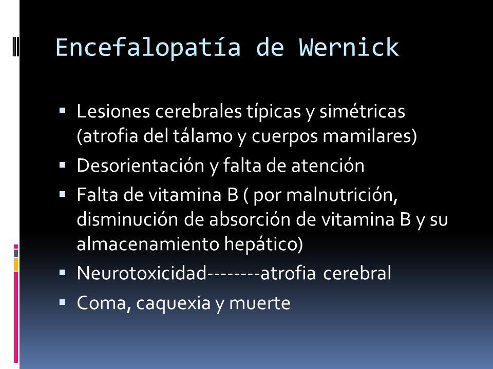 Encefalopatía de Wernick