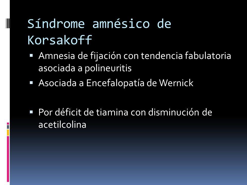 Síndrome amnésico de Korsakoff