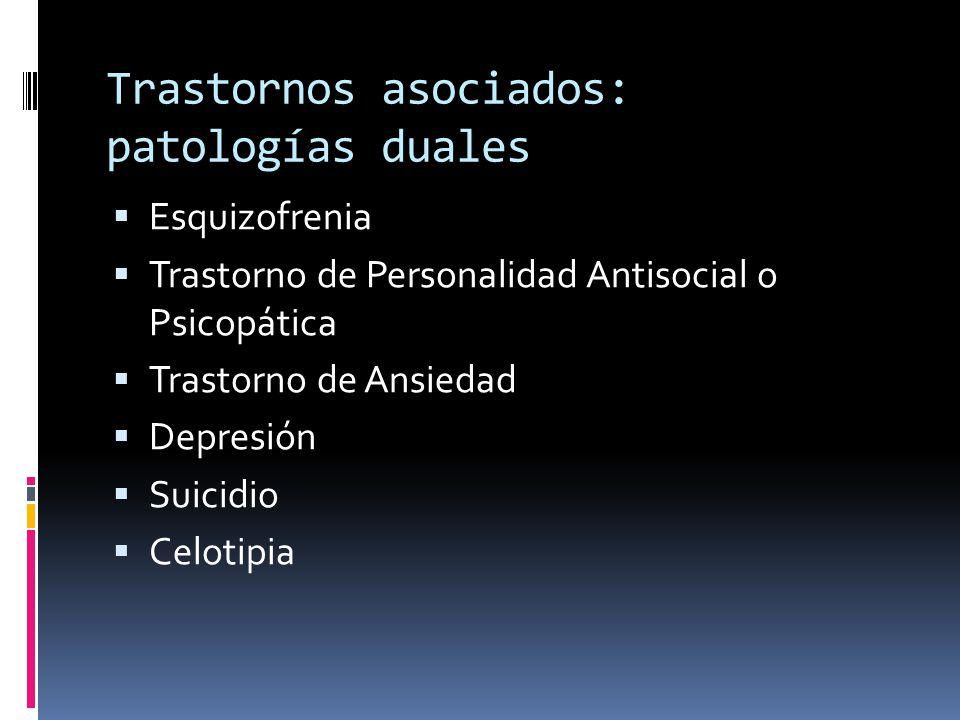 Trastornos asociados: patologías duales
