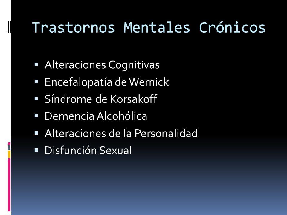 Trastornos Mentales Crónicos