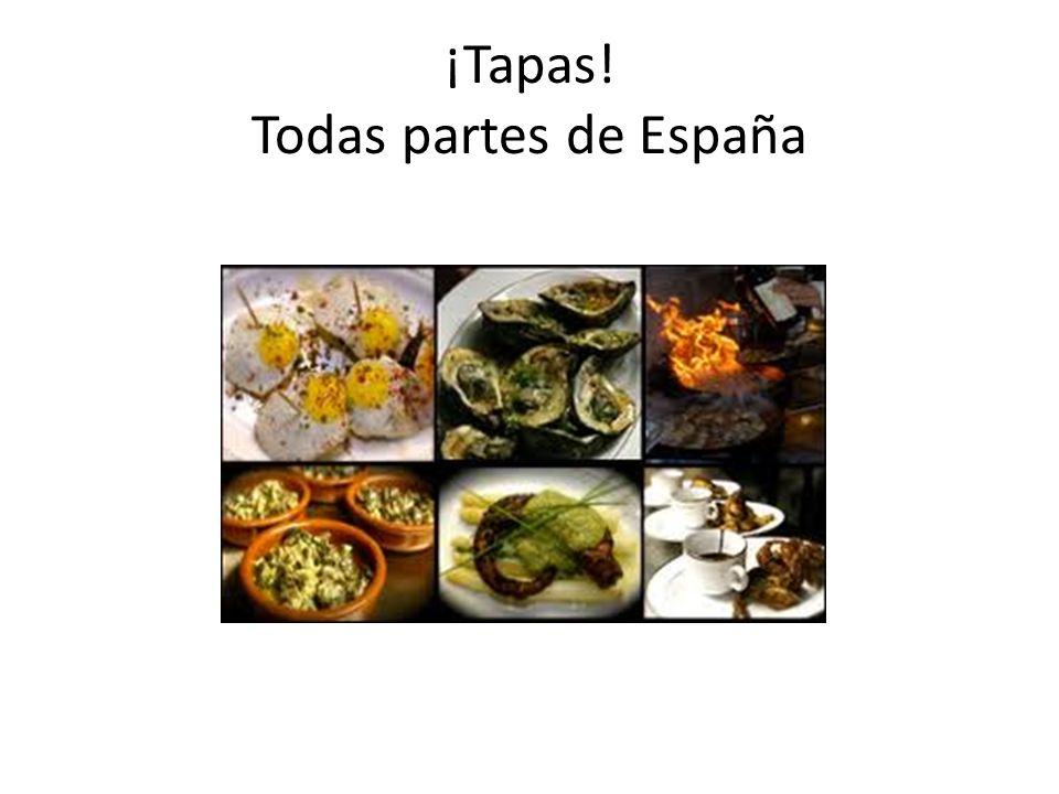 ¡Tapas! Todas partes de España