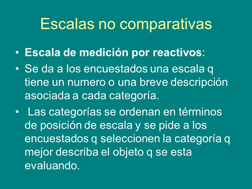 Escalas no comparativas