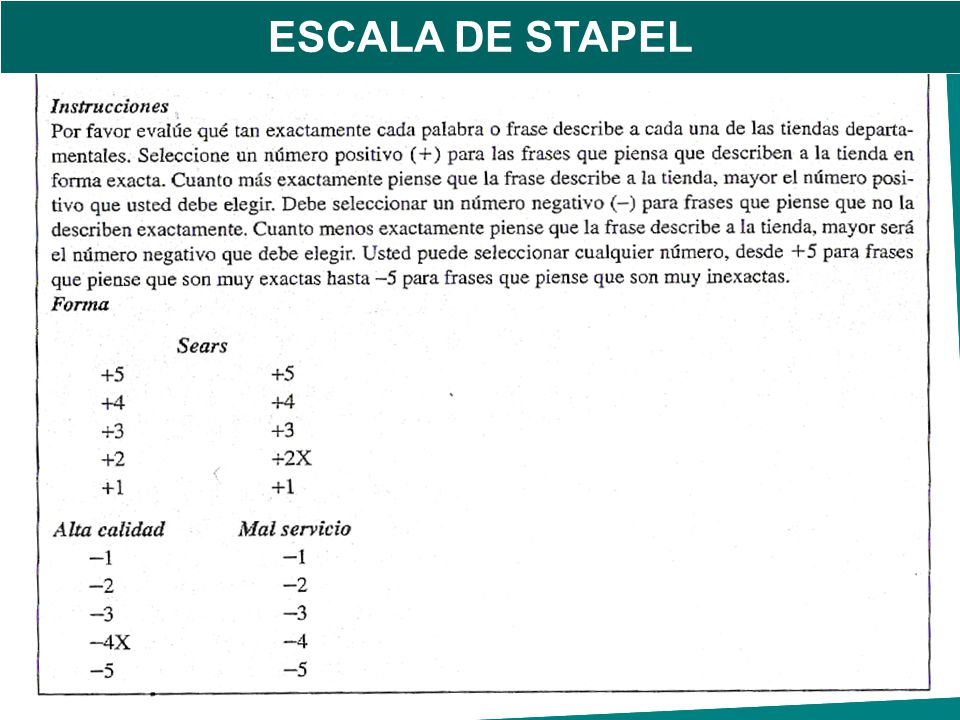 ESCALA DE STAPEL