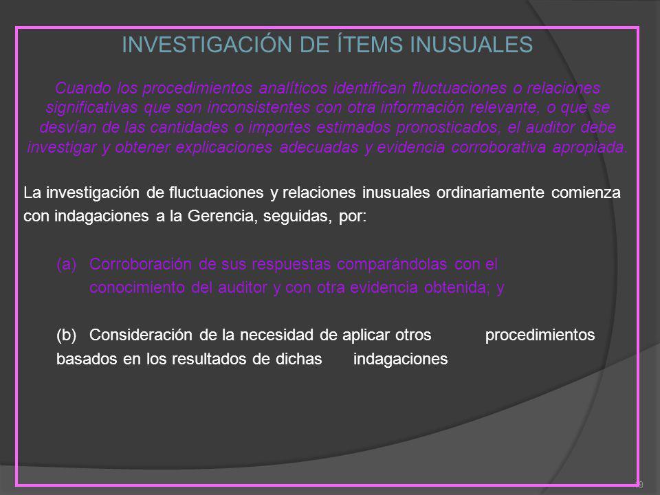 INVESTIGACIÓN DE ÍTEMS INUSUALES