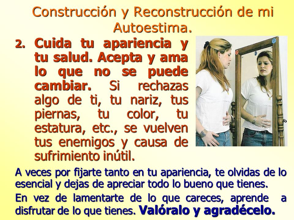 Construcción y Reconstrucción de mi Autoestima.