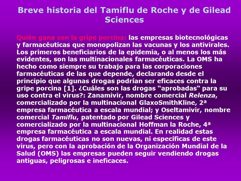 Breve historia del Tamiflu de Roche y de Gilead Sciences