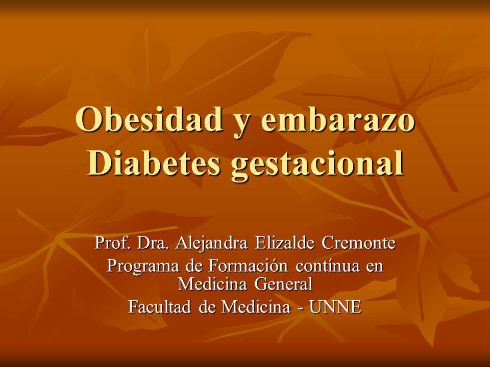 Obesidad y embarazo Diabetes gestacional