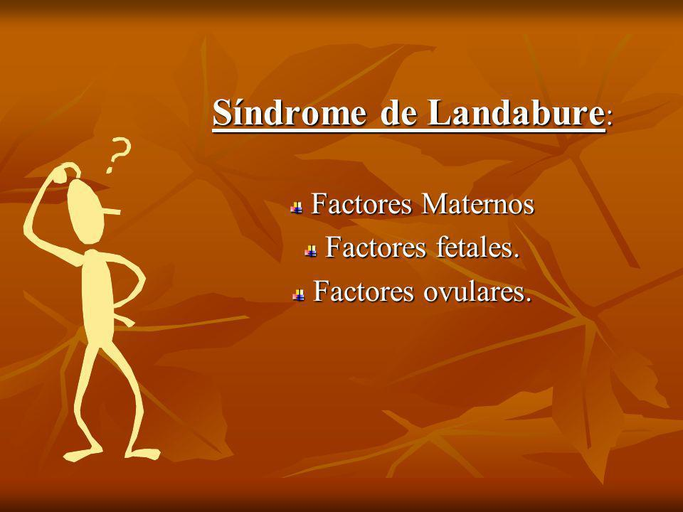 Síndrome de Landabure: