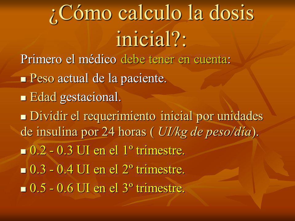 ¿Cómo calculo la dosis inicial :