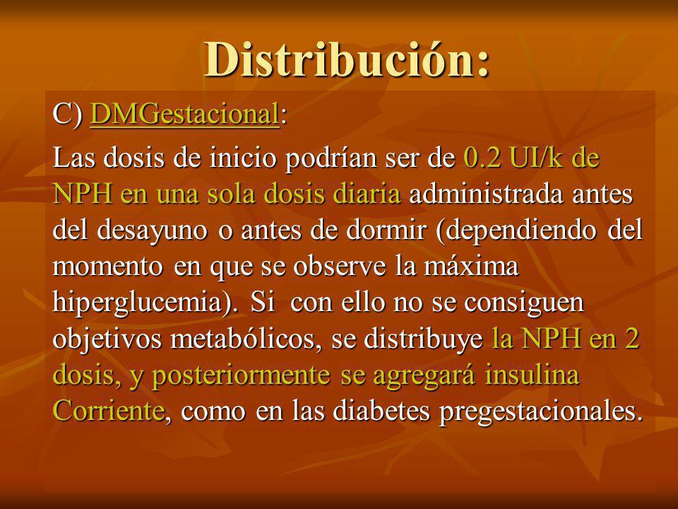 Distribución: C) DMGestacional: