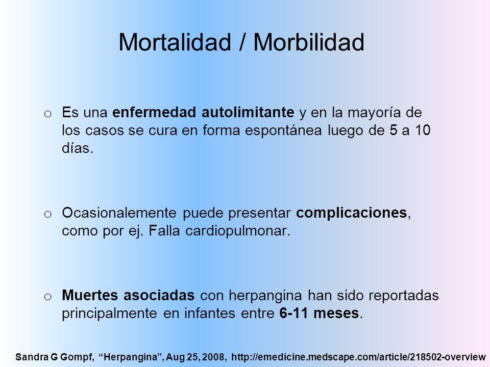 Mortalidad / Morbilidad