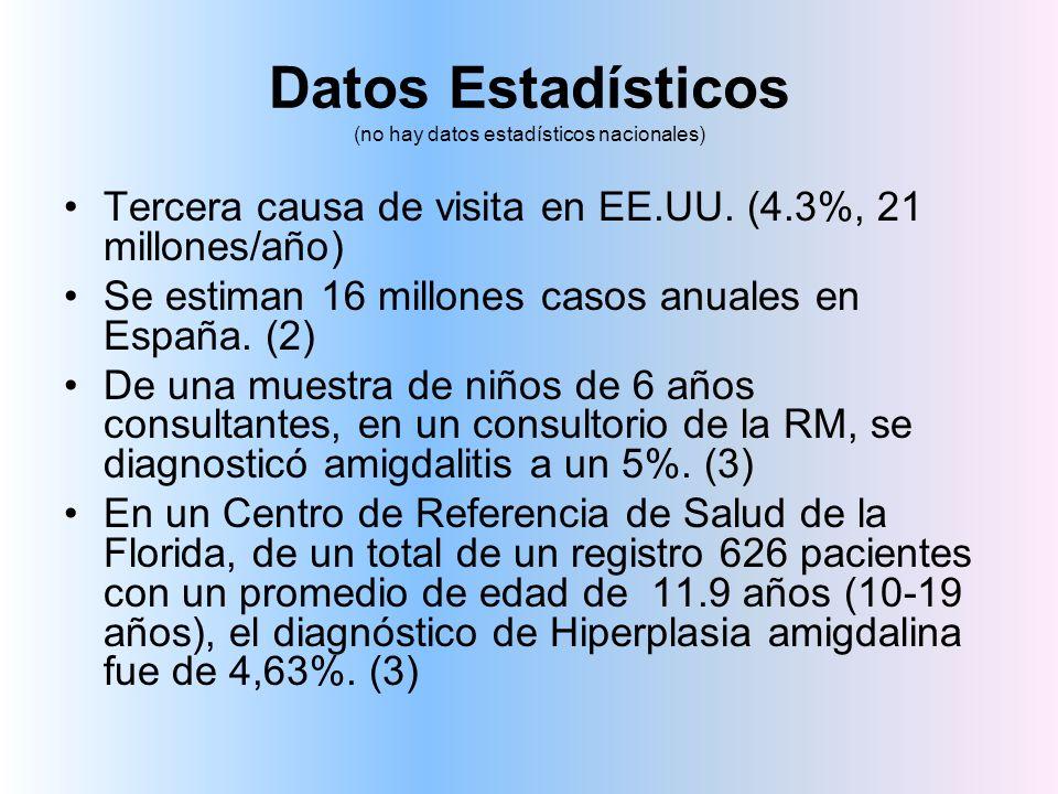 Datos Estadísticos (no hay datos estadísticos nacionales)