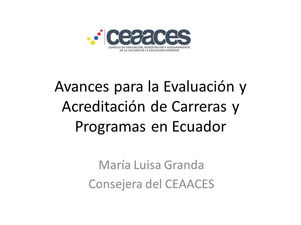 María Luisa Granda Consejera del CEAACES