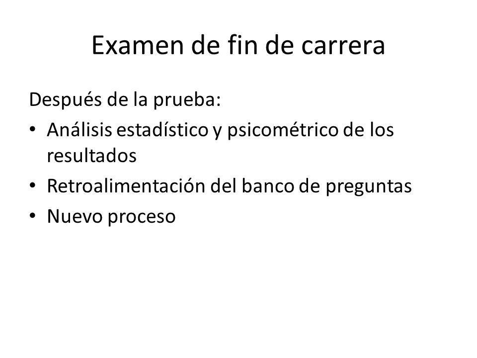 Examen de fin de carrera
