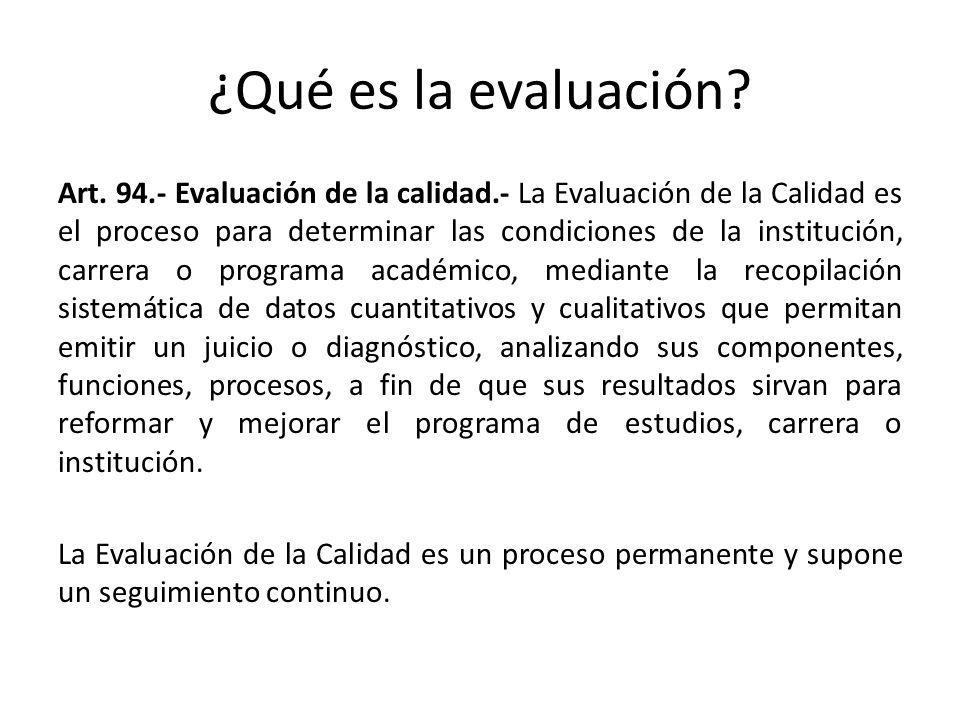 ¿Qué es la evaluación