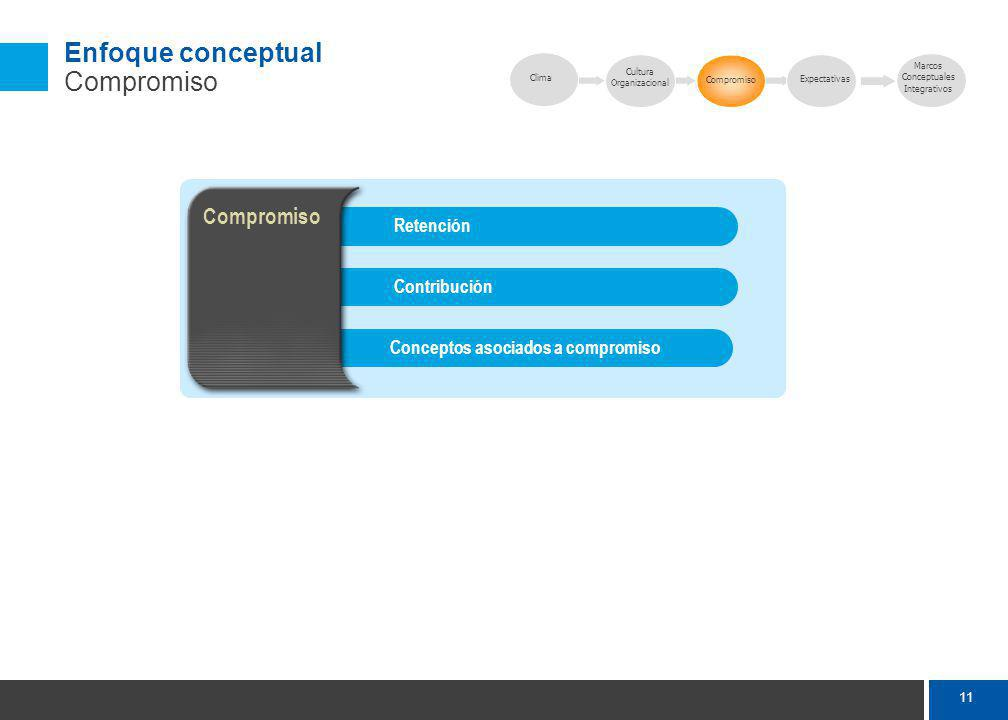 Enfoque conceptual Expectativas
