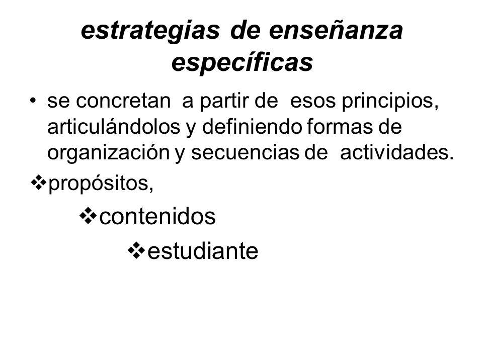 estrategias de enseñanza específicas
