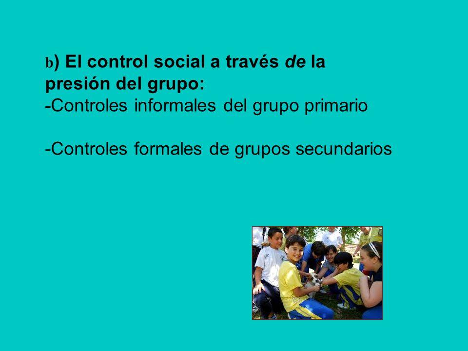 -Controles formales de grupos secundarios
