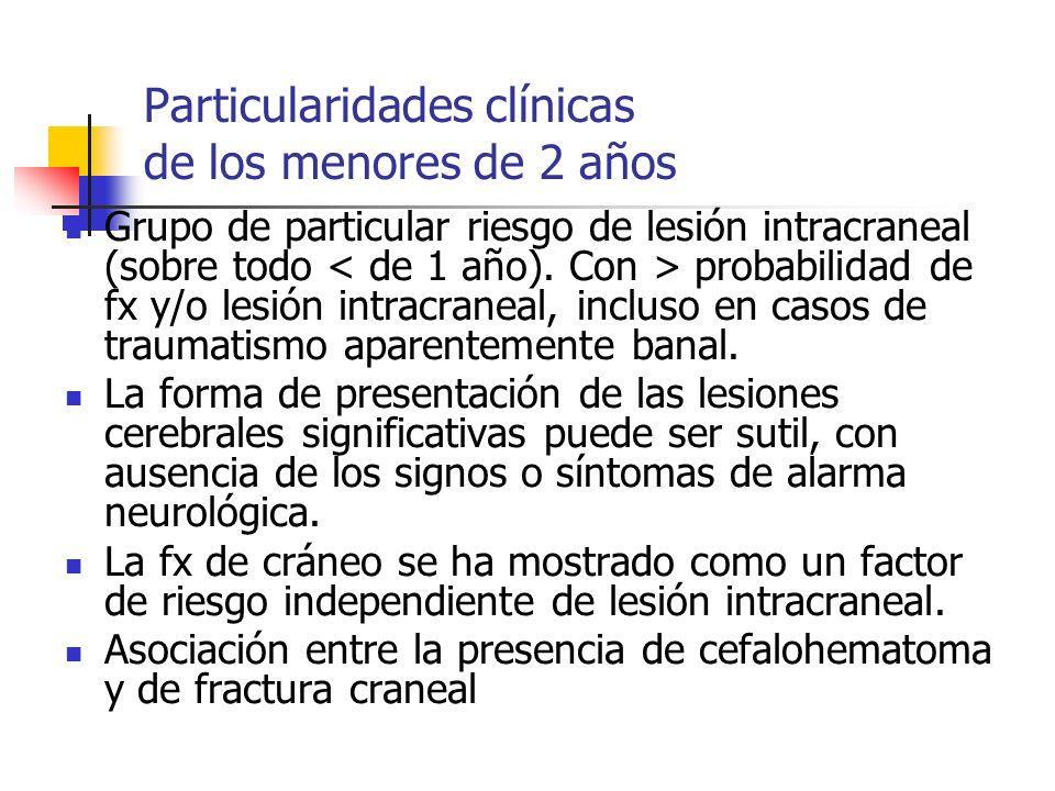 Particularidades clínicas de los menores de 2 años