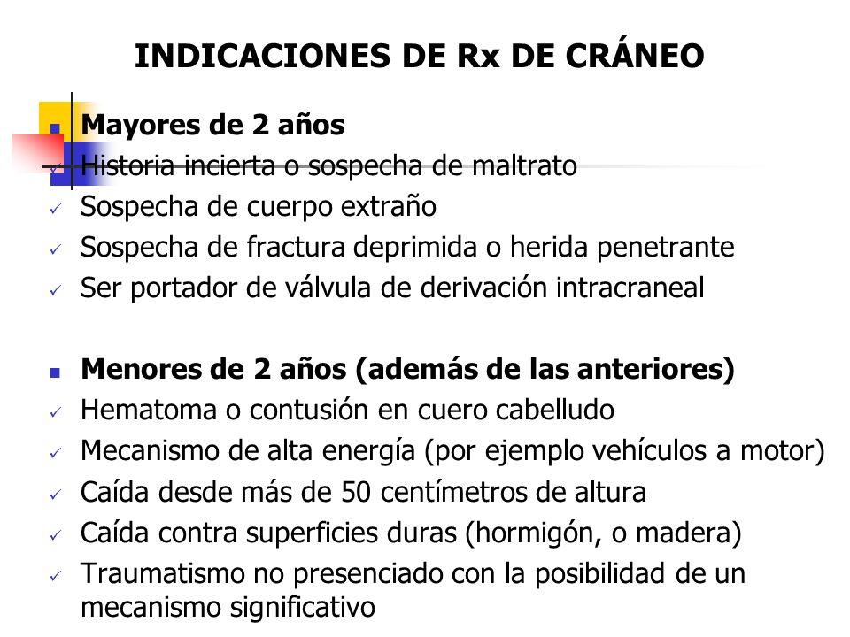 INDICACIONES DE Rx DE CRÁNEO