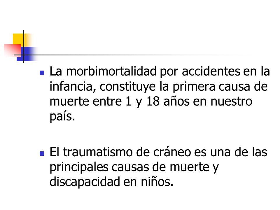 La morbimortalidad por accidentes en la infancia, constituye la primera causa de muerte entre 1 y 18 años en nuestro país.