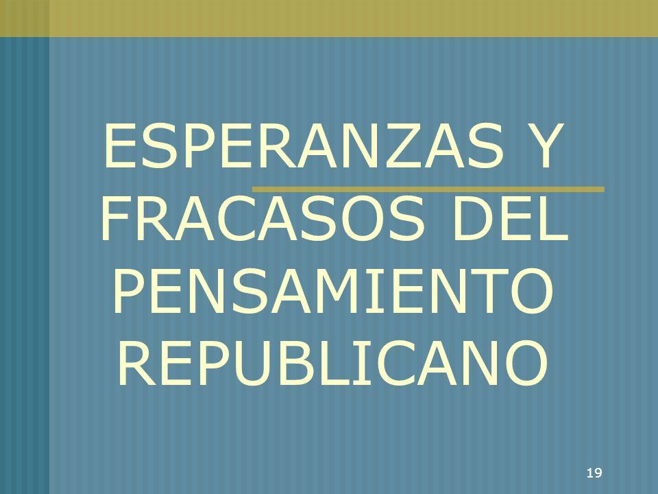 ESPERANZAS Y FRACASOS DEL PENSAMIENTO REPUBLICANO