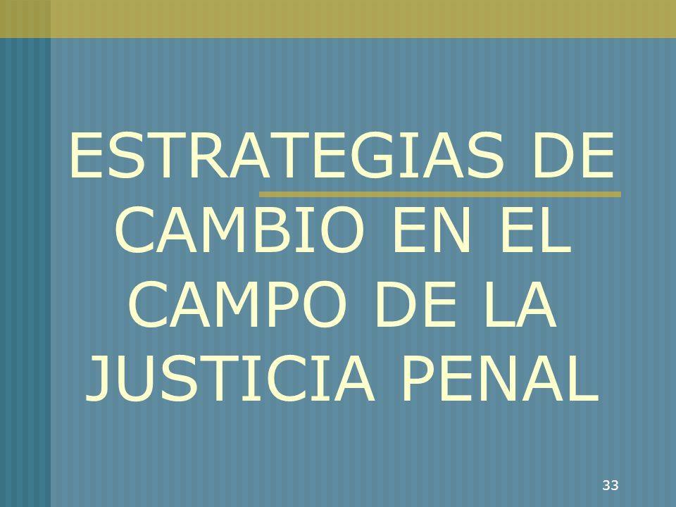 ESTRATEGIAS DE CAMBIO EN EL CAMPO DE LA JUSTICIA PENAL
