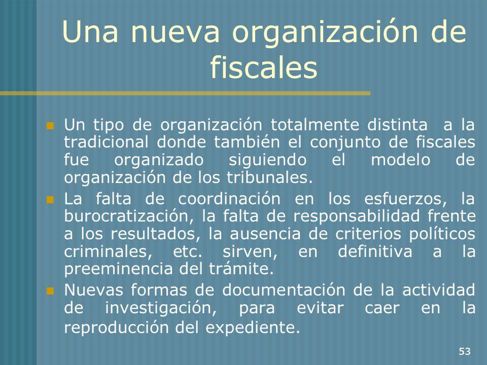 Una nueva organización de fiscales