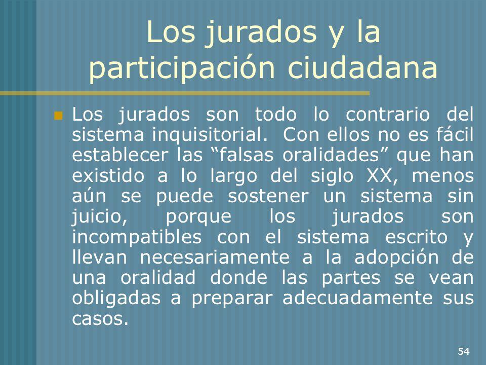 Los jurados y la participación ciudadana