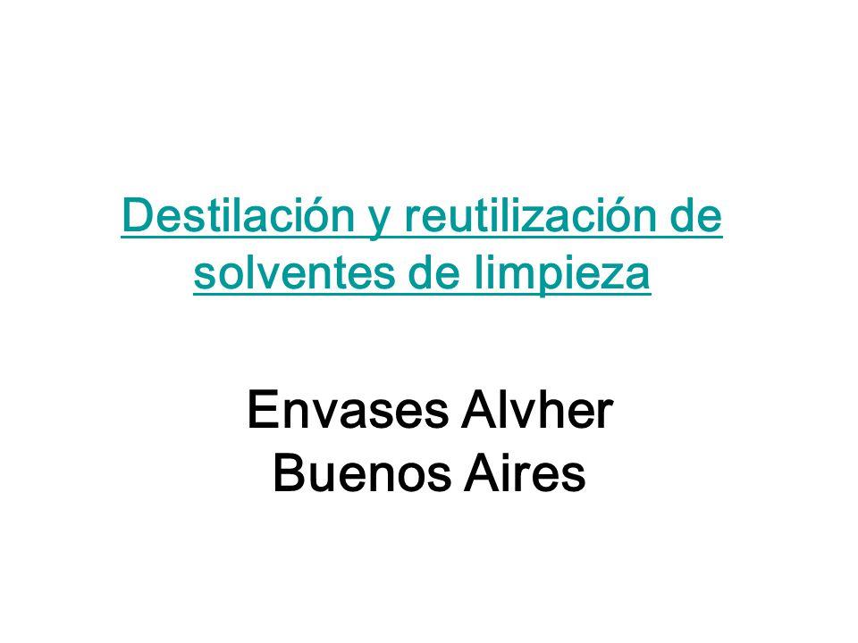 Destilación y reutilización de solventes de limpieza