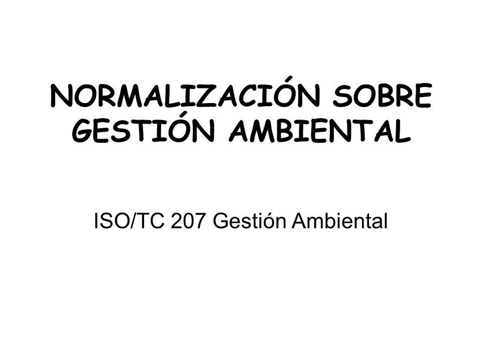 NORMALIZACIÓN SOBRE GESTIÓN AMBIENTAL