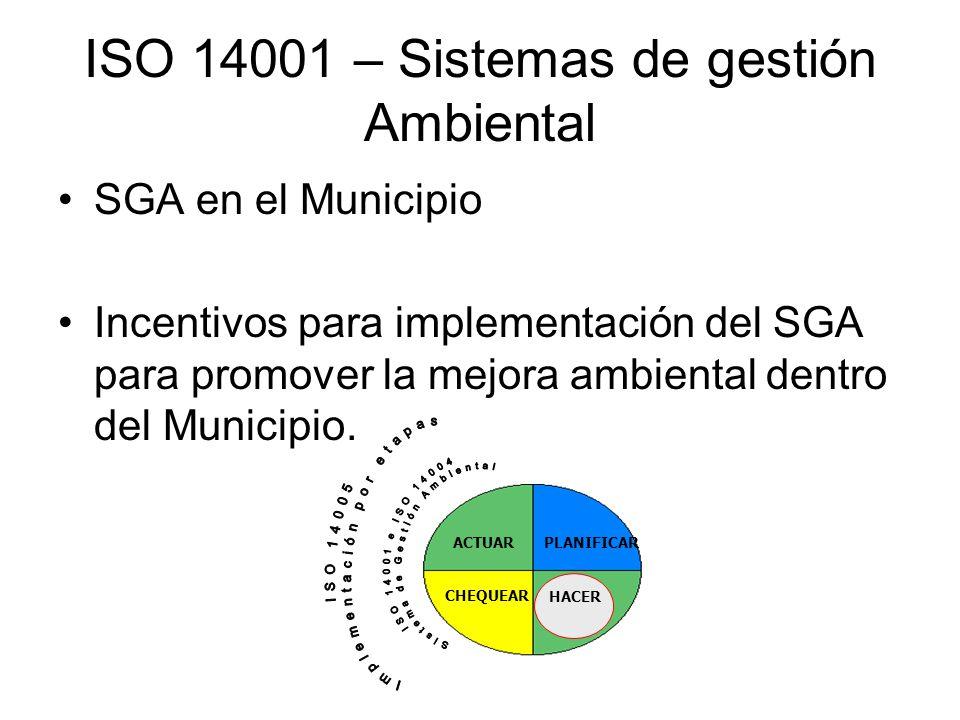 ISO 14001 – Sistemas de gestión Ambiental