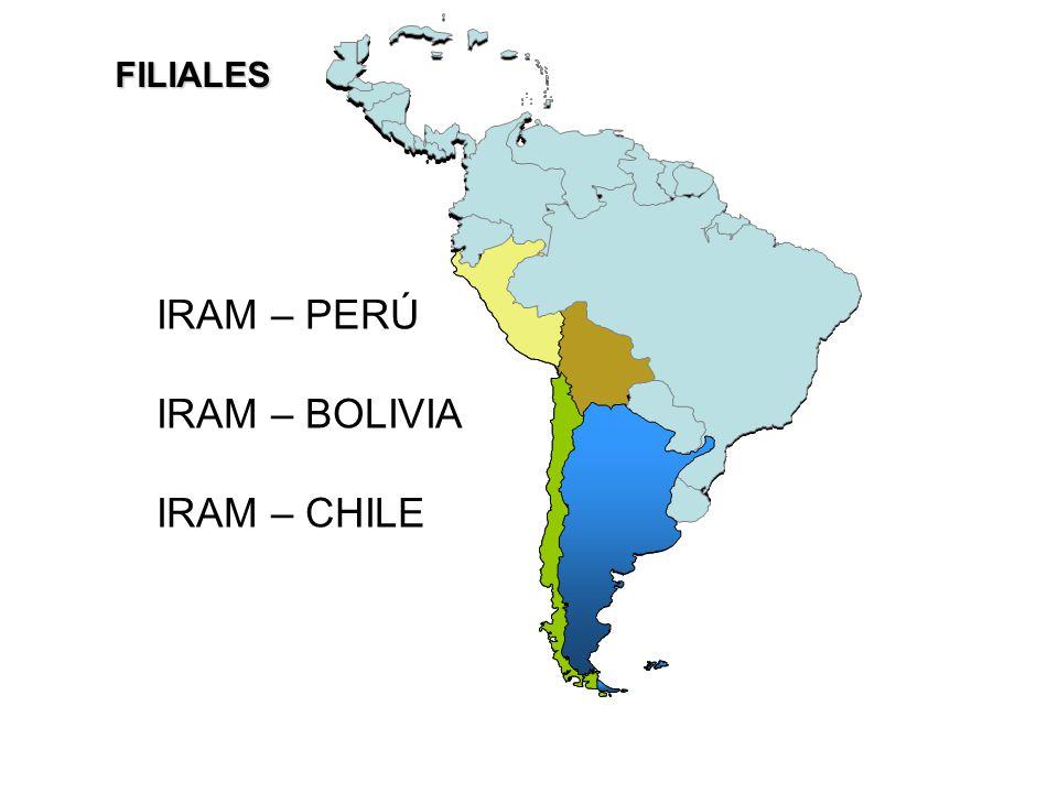 FILIALES IRAM – PERÚ IRAM – BOLIVIA IRAM – CHILE