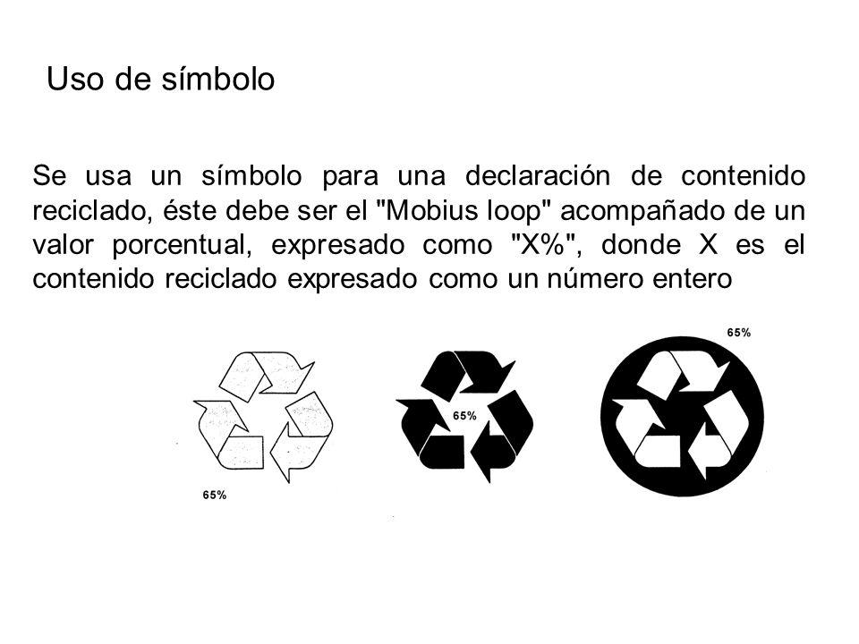 Uso de símbolo